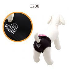 Camon Трусики для собак черные, украшенные стразами
