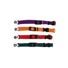 Ошейник «Капроновый» цветной 10мм обхват 23см-38см цветной с бубеньчиком, шт