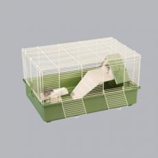IMAC Клетка LILO для хомяков ЭКО ЛАЙН 61x40x33см c деревянным домиком с лесенкой