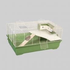 IMAC Клетка STITCH - new для хомяков ЭКО ЛАЙН 80x48,5x38см c  c деревянным домиком с лесенкой