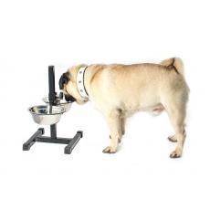 Миска для собак регулируемая ЕСО чёрная
