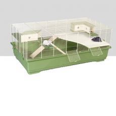 IMAC Клетка RAT 100 WOOD для крыс ЭКО ЛАЙН 100х54,5x40см 2 деревянные полки, 2 домика, лесенка
