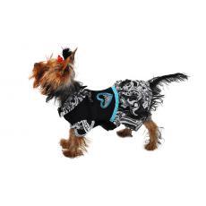 Платье с сердечком шифон для собак черный