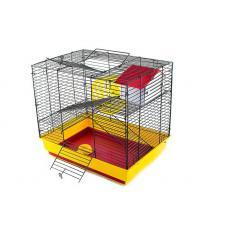 "Клетка д/грызун ""Саша"" мини+, 2этажа(комп- домик,колесо д140,миска д60)  41*30*37 см, шт"