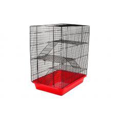 """Клетка """"ЕСО"""" (Хома №3) для грызунов 33см*24см*38см 3 этажа, шт"""