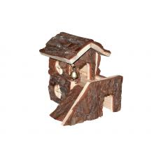 """Домик для грызунов из неокоренного дерева """"Сторожевая башня"""" 21*25*h20"""