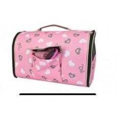 Сумка-переноска Camon Розовая в сердечко на колёсах и с ручкой