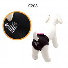 Camon Трусики для собак черные со стразами 34 см