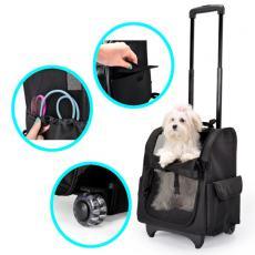 Рюкзак-трасформер (автосумка, подстилка) с сеткой на колесиках со складной ручкой 32x29x50см