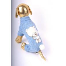 Комбинезон вязанный с мишкой для собак P-a-P