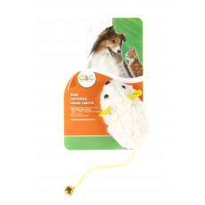 Игр. д/к Мышка белая с колокольчиком 9см