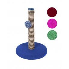Когтеточка-столб веревочная (цветная) на круглой платформе 500*370*370