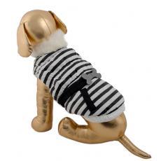 Pret-a-Pet Куртка-жилет в полоску с меховым воротником на поясе с аксессуарами
