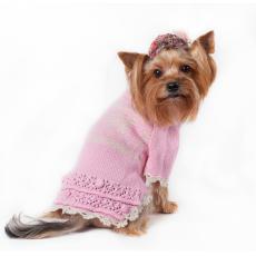 IS PET Свитер Celeste розовый с оборочкой