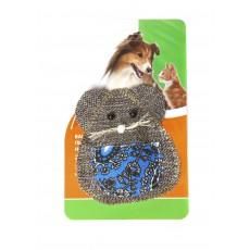 """Игрушка д/к """"Мышь с фартучком """"с экстратом кошачей мяты 9,5*8,5см"""