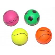 Игр д/с мяч жесткий футбол 6 см, шт