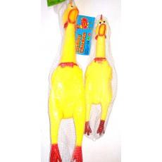 Курица латексная 20 см со звуком, шт